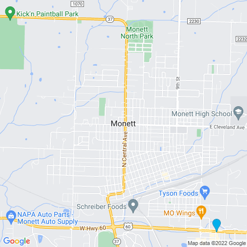 Map of Monett, MO