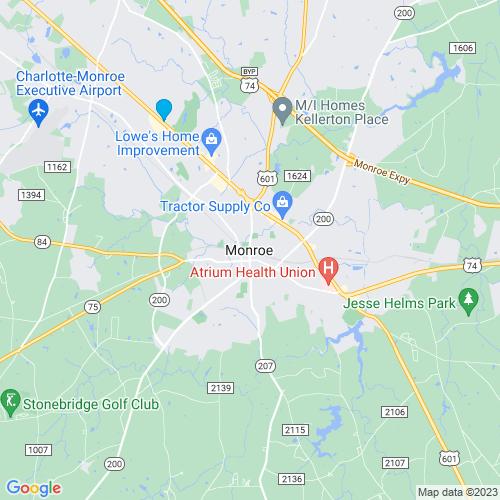 Map of Monroe, NC