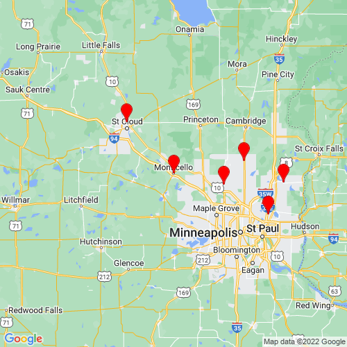Map of Monticello, MN
