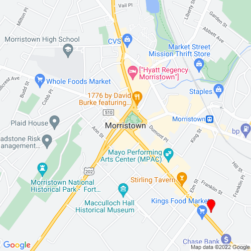 Map of Morristown, NJ