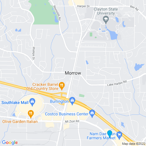 Map of Morrow, GA