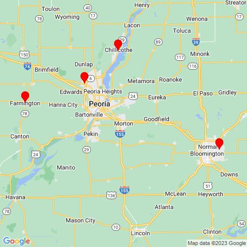 Map of Morton, IL