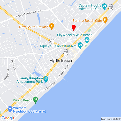 Map of Myrtle Beach, SC
