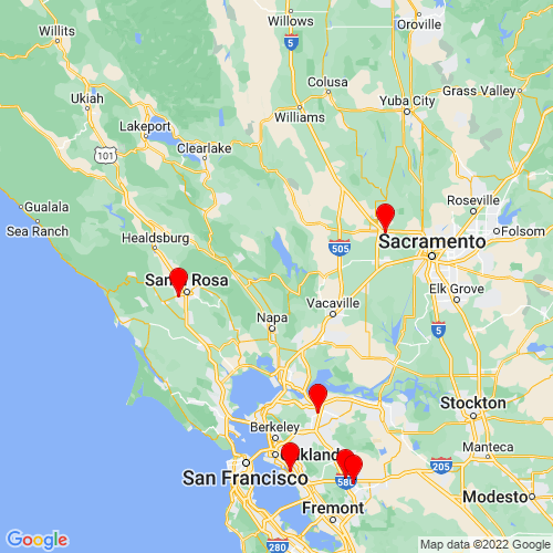 Map of Napa, CA