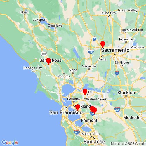 Map of Napa, CA