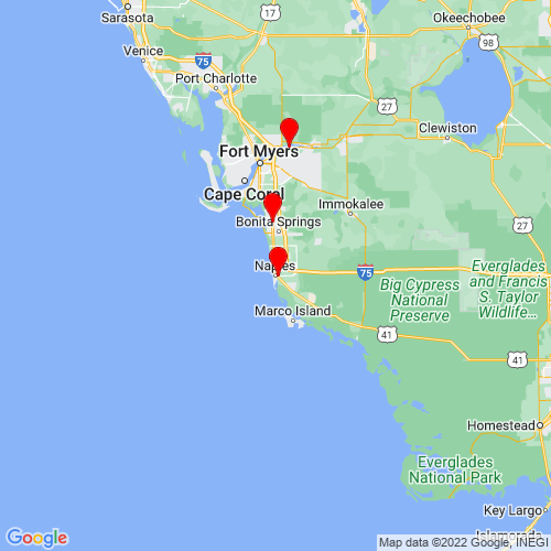 Map of Naples, FL