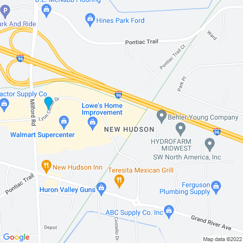 Map of New Hudson, MI