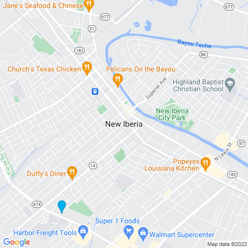 Map of New Iberia, LA