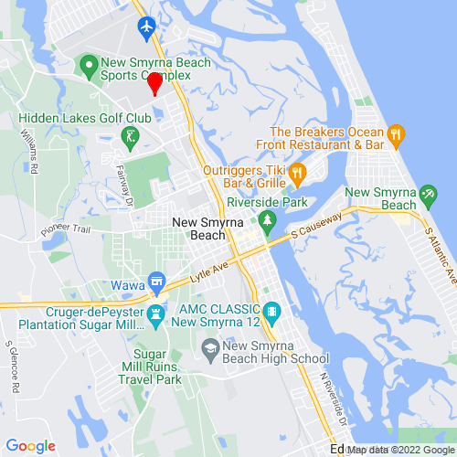 Map of New Smyrna Beach, FL