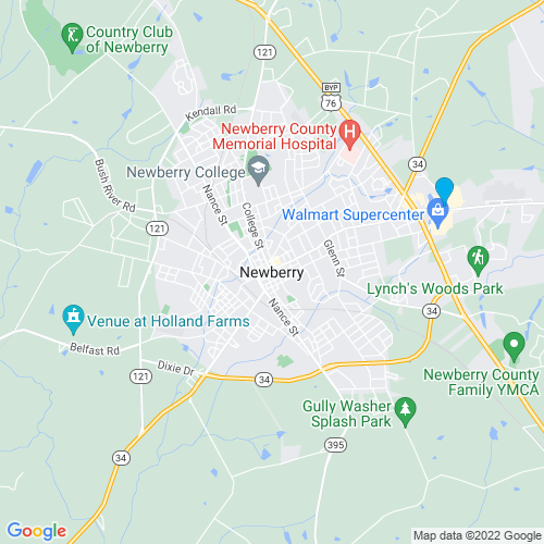Map of Newberry, SC