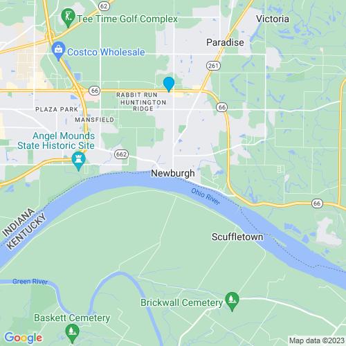 Map of Newburgh, IN