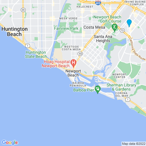 Map of Newport Beach, CA
