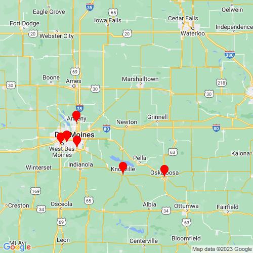 Map of Newton, IA