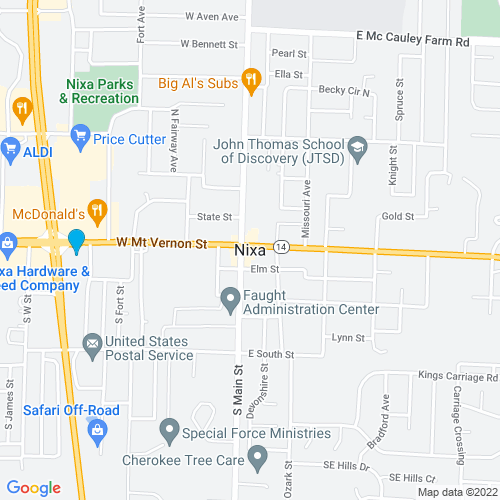 Map of Nixa, MO