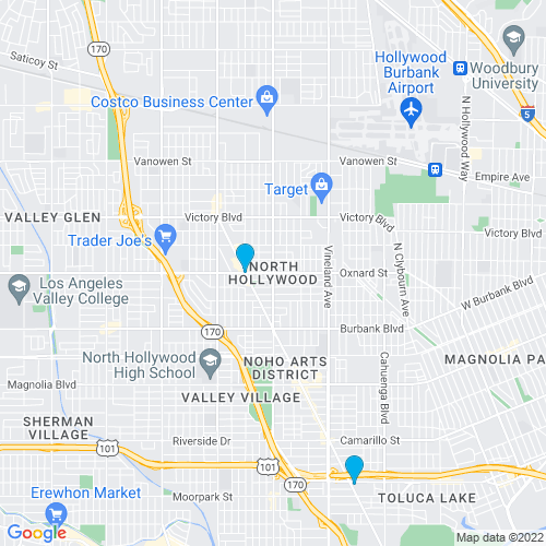 Map of North Hollywood, CA