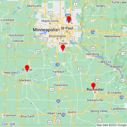Map of Northfield, MN