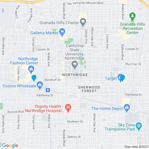 Map of Northridge, CA