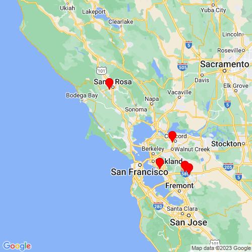 Map of Novato, CA