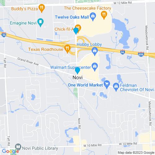Map of Novi, MI