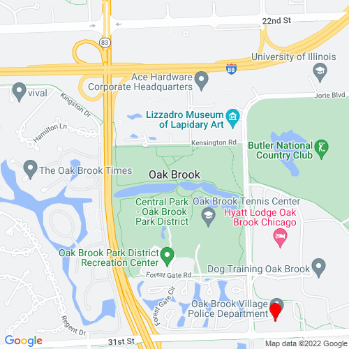 Map of Oak Brook, IL