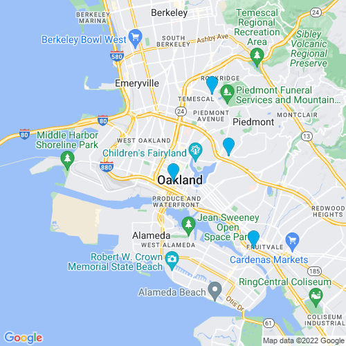 Map of Oakland, CA