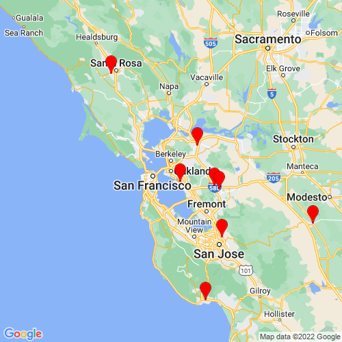 Map of Oakland, CA