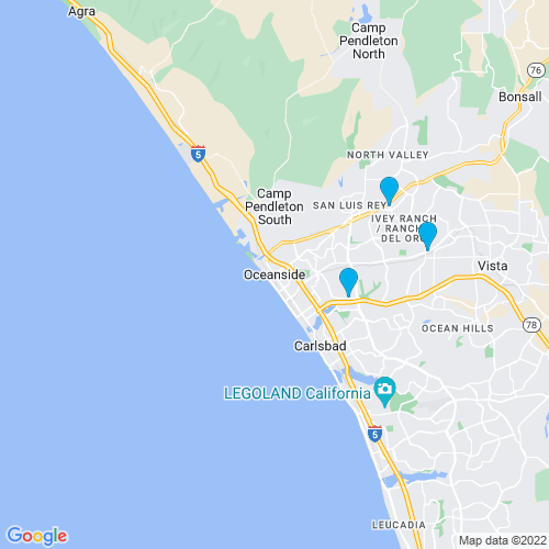 Map of Oceanside, CA