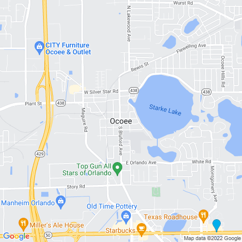 Map of Ocoee, FL