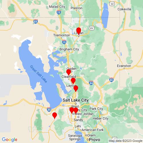 Map of Ogden, UT