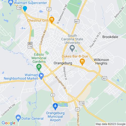 Map of Orangeburg, SC