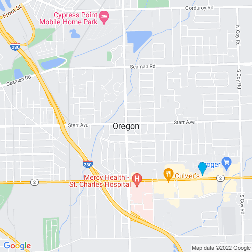 Map of Oregon, OH
