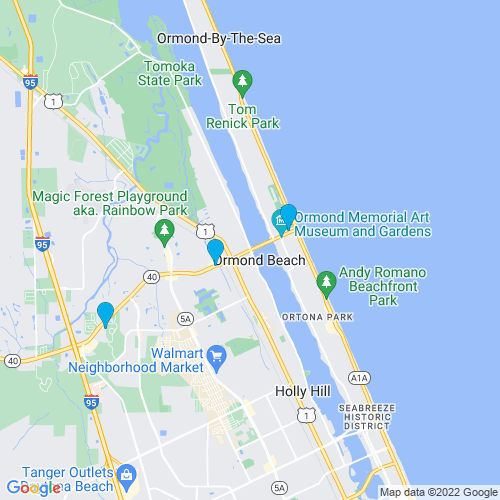 Map of Ormond Beach, FL