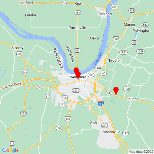 Map of Owensboro, KY