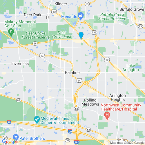 Map of Palatine, IL