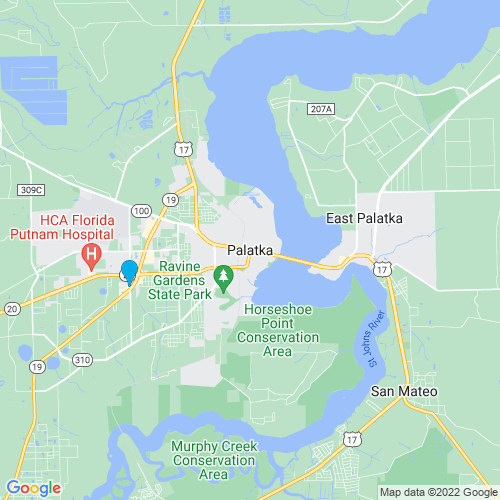 Map of Palatka, FL