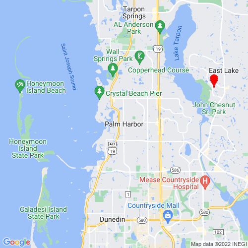 Map of Palm Harbor, FL