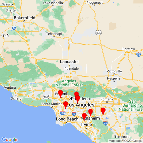 Map of Palmdale, CA