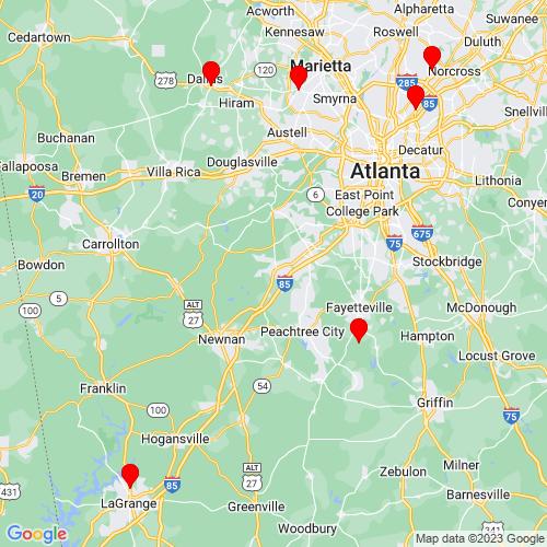 Map of Palmetto, GA