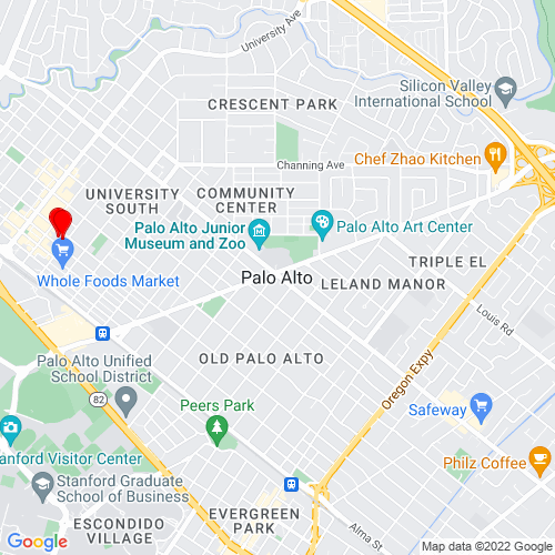 Map of Palo Alto, CA