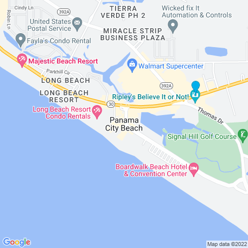 Map of Panama City Beach, FL