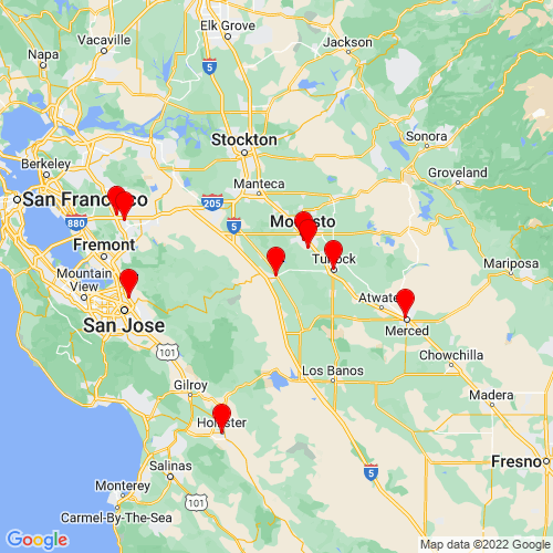 Map of Patterson, CA