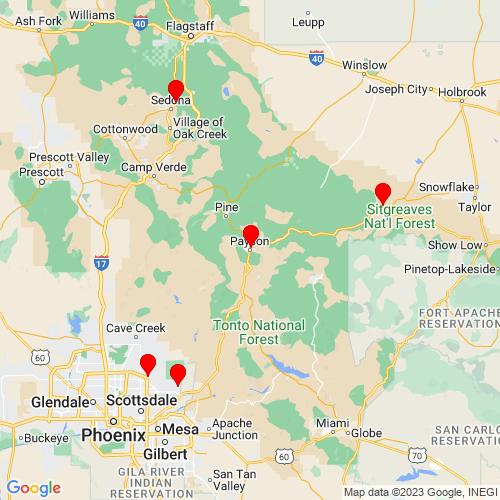 Map of Payson, AZ