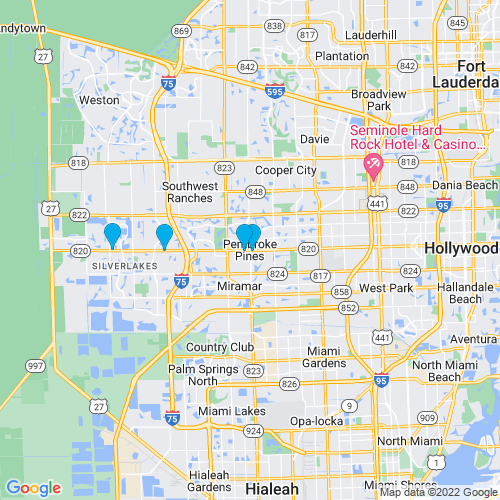 Map of Pembroke Pines, FL