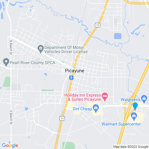 Map of Picayune, MS