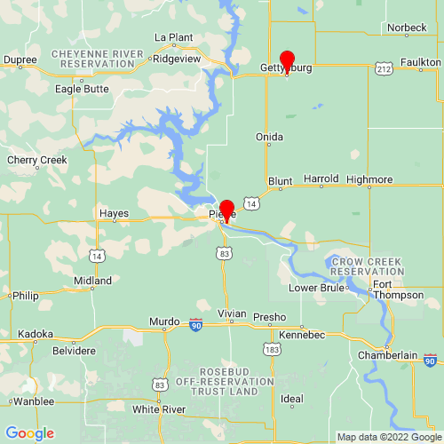 Map of Pierre, SD