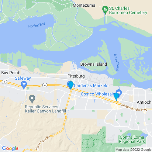 Map of Pittsburg, CA