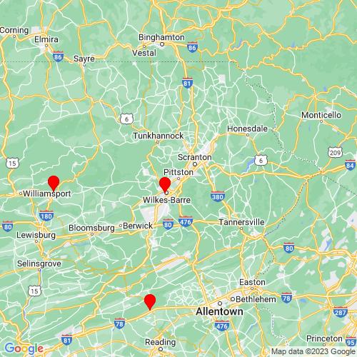 Map of Pittston, PA