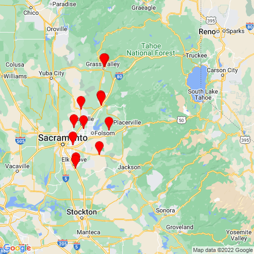 Map of Placerville, CA