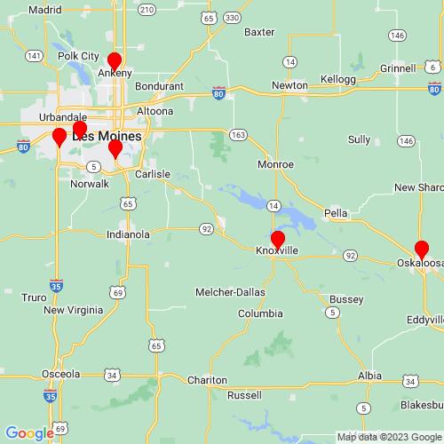 Map of Pleasantville, IA