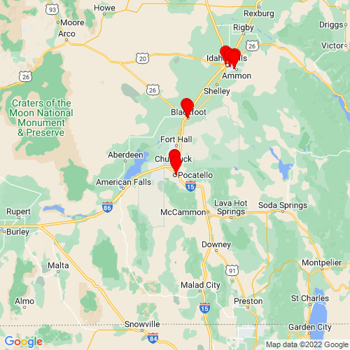 Map of Pocatello, ID